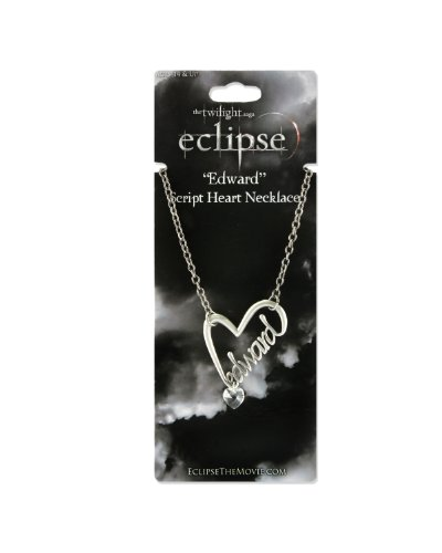 Twilight Eclipse Edward Script Necklace