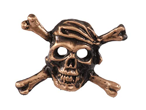 - Creative Pewter Designs Pirate Skull & Crossbones Copper Plated Lapel Pin, Brooch, Jewelry, AC167