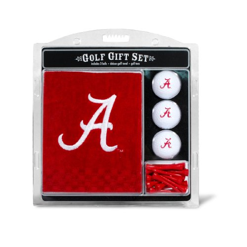 NCAA Alabama Crimson Tide Embroidered Golf Towel, 3 Golf Ball, and Golf Tee Set Alabama Crimson Tide Embroidered Golf Ball