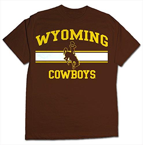 NCAA Wyoming Cowboys Stormster Short Sleeve Tee, XX-Large, Brown