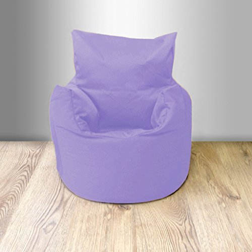 Children's 100% Cotton Twill Pre-Filled Bean Chair, Lilac Ready Steady Bed