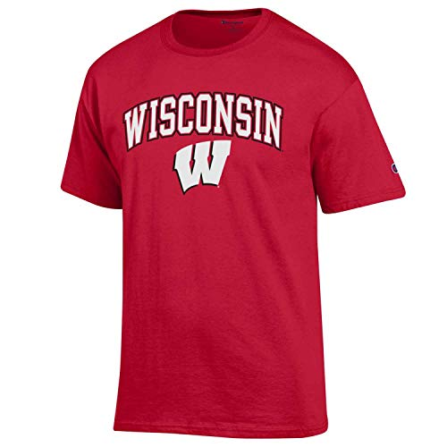 Wisconsin Badgers Adult Arch & Logo Soft Style Gameday T-Shirt - Red , Small