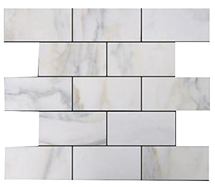 Polished Calacatta Gold Italian Marble 3x6 Subway Tiles for Bathroom