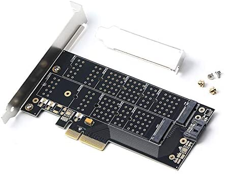 2 en 1 PCI-e 4X a M Clave M.2 NVME SSD Tarjeta SATA 3.0 a B Clave ...