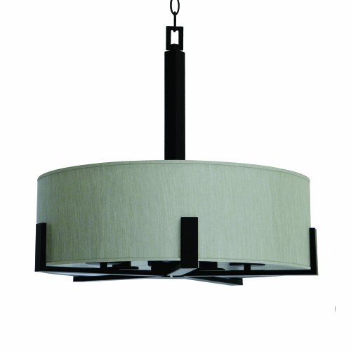 Yosemite Home Decor 207C-5TCEBZ 5-Light Chandelier with Toffee Crunch Shade from Marble Falls Family, Ebony Bronze