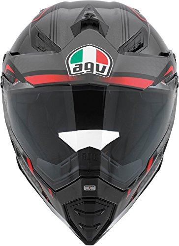 AGV AX-8 Dual Sport Evo Helmet (Black/Silver/Red, Medium) by AGV (Image #1)