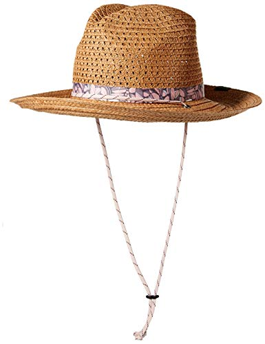 Columbia Women's Bella Falls Straw Hat, Camel Brown, Large/X-Large