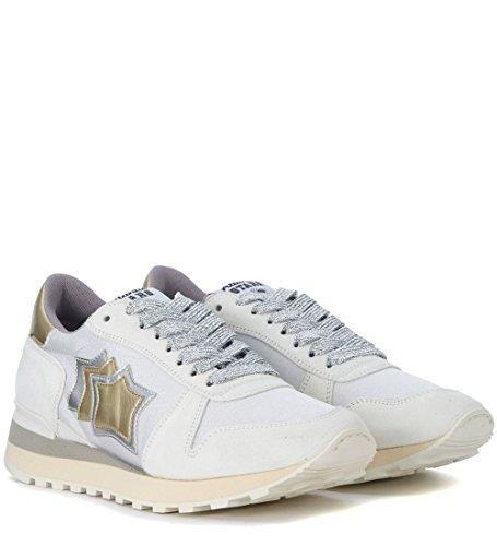 Atlantic Stars Sneaker Modell Alhena Aus Leder in Weiss, Gold und Silber Weiß