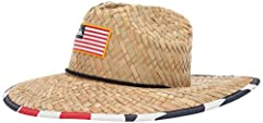 Special features include: Quiksilver sun protection straw hat with straw fabric crown