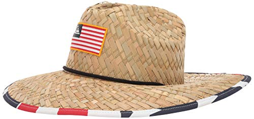 (Quiksilver Men's Outsider Merica Sun Protection HAT, Natural, S/M)