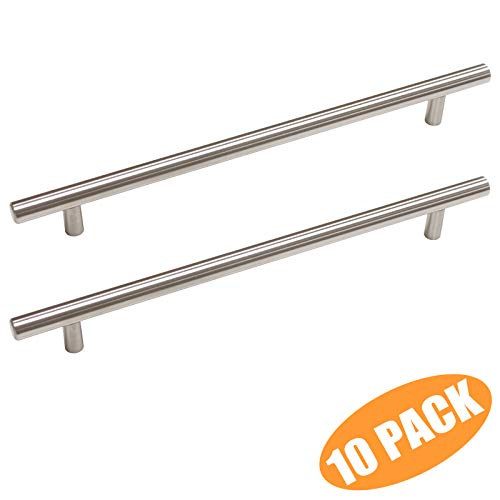 Probrico T Bar Cabinet Pulls Stainless Steel Kitchen Drawer Pulls Cupboard Door Handles 8-3/4 inch Hole Spacing 10 Packs