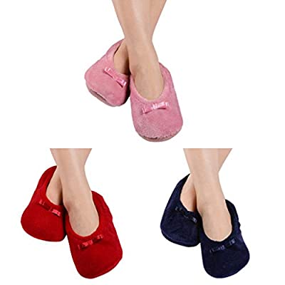 FADU Adult Super Soft Warm Microfiber Cozy Fuzzy Slippers Non-Slip Lined Socks at Women's Clothing store