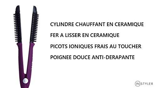 InStyler, IONIC STYLER PRO: cepillo térmico rizador y alisador de cerámica, color violeta: Amazon.es: Belleza