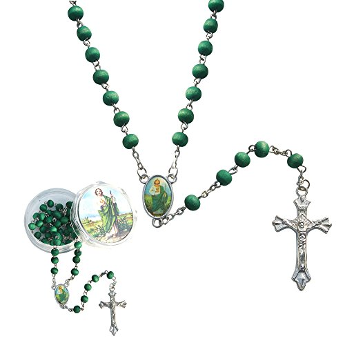 St. Jude Rose Petal Scented Rosary - 6 Pcs Rosaries with Individual Matching Gift Box