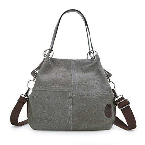 S Grande Capacité Taille Gray Portable À Toile couleur En Noir Rxf Femme Bandoulière Sac Pour xnFH1z18qO