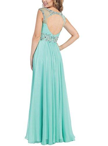 Promworld Damen A-Linie Kleid blau königsblau Gr. 54, grape