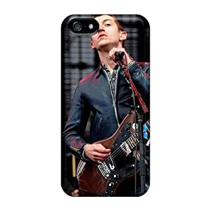 CharlesPoirier Iphone 5/5s Protective Hard Cell-phone Case Allow Personal Design HD Arctic Monkeys Band Image [PMz6245lmSw]