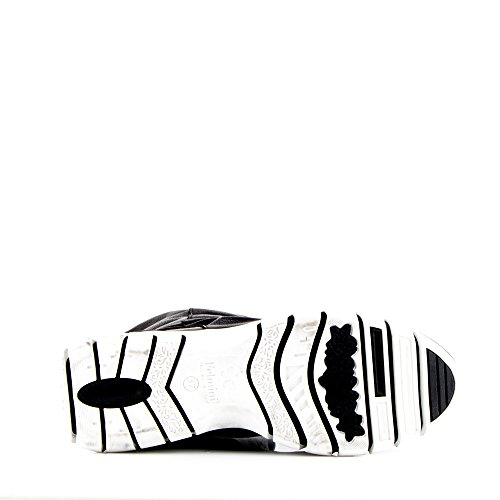 Felmini - Chaussures Femme - Tomber en amour avec Runner 9342 - Bottes Sportif Haute - Leather Véritable - Noir