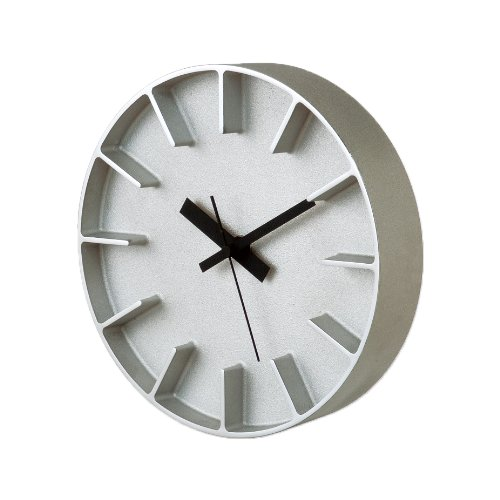 Lemnos edge clock ホワイト AZ-0115 WH B000TDZS6Y ホワイト|AZ-0115 ホワイト
