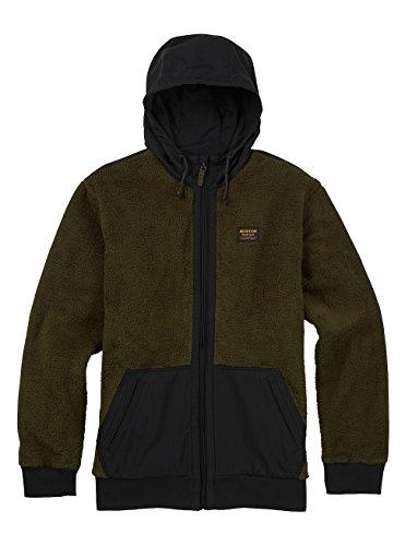Burton Men's Tribute Full-Zip Fleece Hoodie, Forest Night, Medium Burton Mens Lightweight Fleece