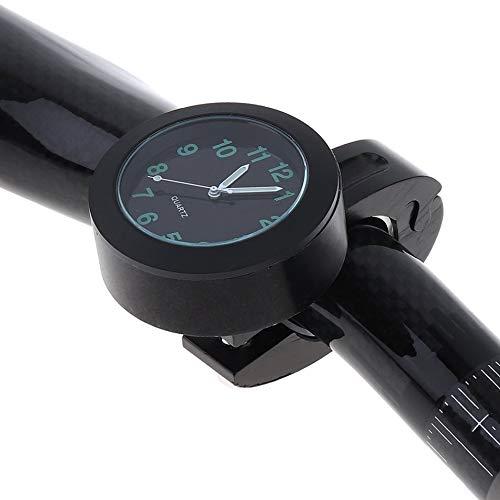 - Universal Waterproof Bike Watch Grow in Dark Clock Motorcycle Alluminum Alloy Dial Mini for Mounting Bicycle Handlebar(Black)