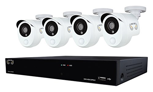 Night Owl Security 8 Channel 1080p HD Video Security DVR with 1 TB HDD and 4 x 1080p Wired Infrared...