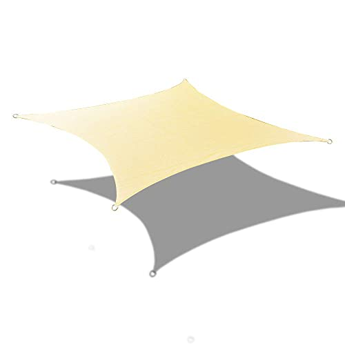 Alion Home Custom Sizes Rectangle PU Waterproof Woven Sun Shade Sail with Stainless Steel Hardware Kits Other Sizes, Scotchbutter