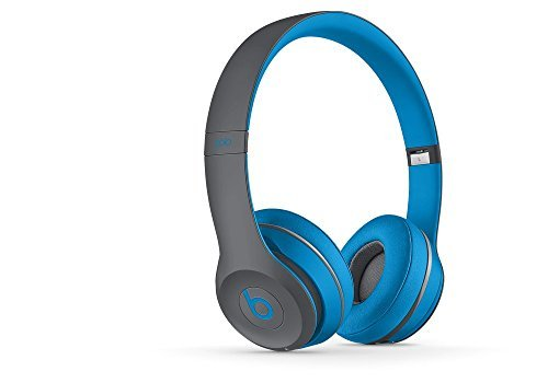 Solo2 Wireless HD Sound Bluetooth On-Ear Headphones Wireless Blue And Gray Photo #2