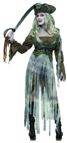 Women's Zombie Pirate Outfit - Small/Medium Fancy Dress