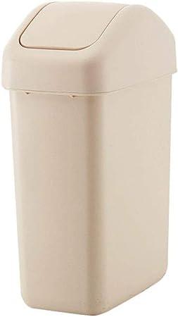 DASJZ-1 Pedal Interiores Papeleras Basura de plástico Puede Refuse - Oficinas Bin - Higiénica Inicio jardín de la Escuela de Cocina de Habitaciones - Circular Cubo de la Basura (Color : White): Amazon.es: Hogar