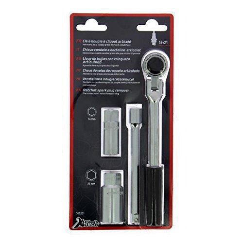 XL Perform Tool 300201 XLTECH clé à Bougie 16-21mm à cliquet.L200+rallonge 145 IMPEX SAS