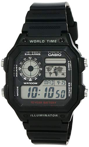 Casio Men's AE1200WH-1A World Time Multifunction Watch from Casio