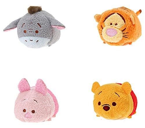 (Disney Winnie the Pooh and Pals ''Tsum Tsum'' Plush - Mini - 3 1/2'' Tigger, Piglet, Pooh, and Eeyore)