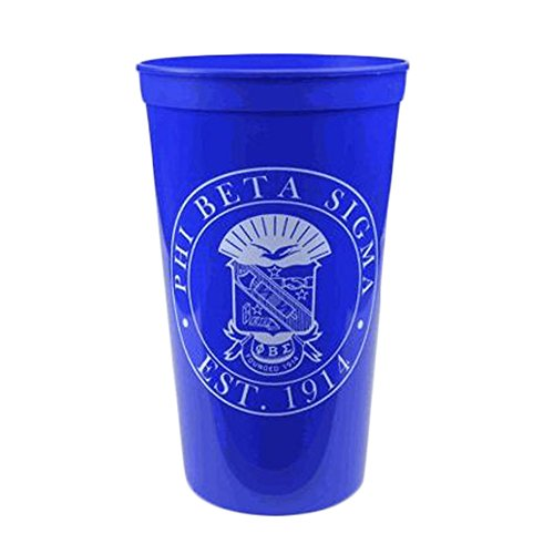 Greek Gear Phi Beta Sigma Blue Plastic Stadium Cups, Set of 6 ? Promote Fraternity with Sharp Cup Design, 32-Ounce Size