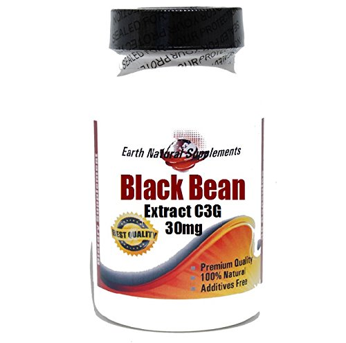 Black Bean Extract C3G 30mg * 90 Caps 100 % Natural - by ...