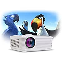 Tiangtech® Android HD LED WiFi HDMI*2 USB*2 Projector Home Cinema Home Theater 3000 Lumens, 2000:1