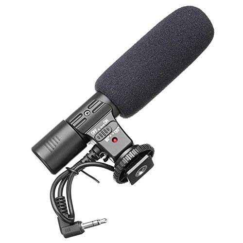 (JNORSEN Camera/Computer Microphone,3.5mm Digital Video Recording Microphone for D-SLR Camera,Stereo Microphone,90/120 Point of Single/Radio of All,Universal Hot Shoe 1/4 Screw Holes)