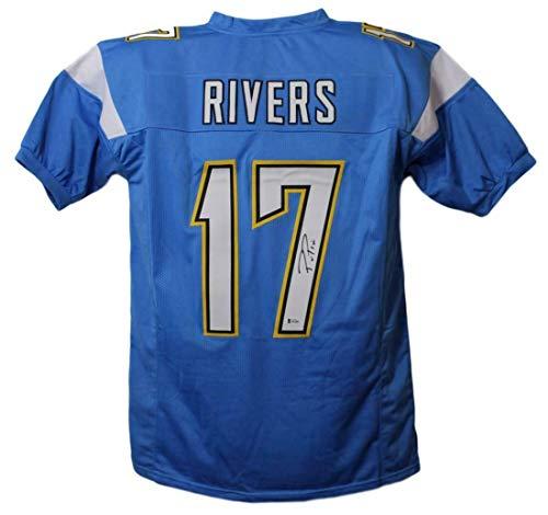 (Philip Rivers Signed Jersey - Phillip Blue XL BAS 23956 - Beckett Authentication - Autographed NFL Jerseys)