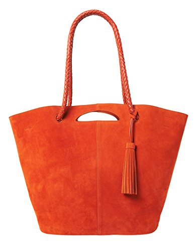 Cinnamon Leather Handbags (Neely & Chloe Women's The Market Tote Cinnamon)