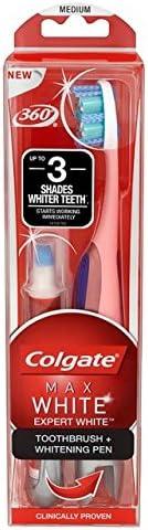 Colgate Max Expert Zahnbürste und Whitening Pen, Weiß