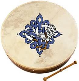 Bodhran Highland Kilt Irish Bodhran Baqueta de madera de varios dise/ños celtas