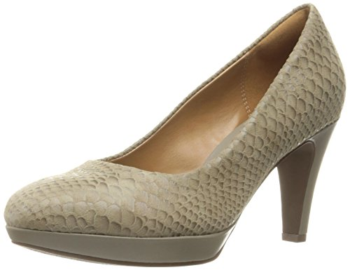 Clarks Women's Brier Dolly Dress Pump, Sage D Snake, 10 M US