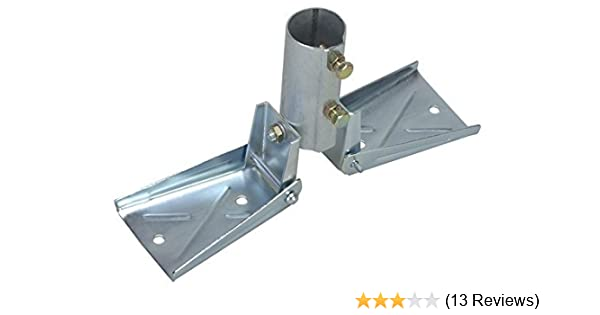 Amazon Com Heavy Duty Roof Mount For Masts Up To 1 1 2 Od Ez 19 Antenna Mast Peak Mount Home Audio Theater