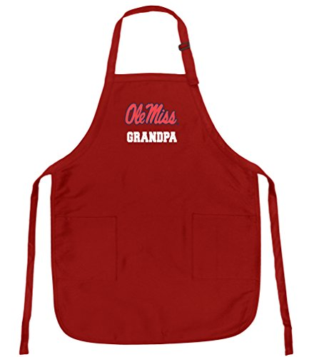 Broad Bay Best Ole Miss Grandpa Aprons Deluxe University of Mississippi Grandpa Apron