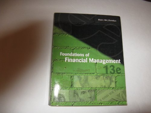 Foundations of Financial Management (paperback)13e-Not Custom Ed