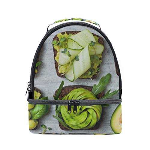 Fragrant And Attractive Avocado Portable School Shoulder Tote Lunch Bag Handbag Kids Double Lunch Box Reusable Insulated Cooler For Women Student Travel Outdoor]()