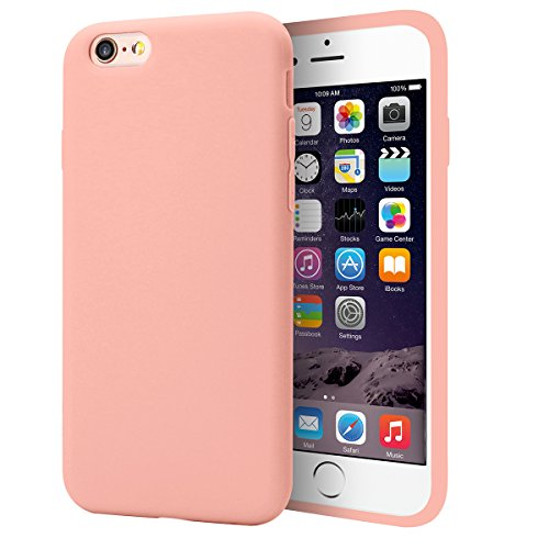 iphone 6 Case Pink,iphone 6s Case Pink,MUNDULEA Slim Thin Flexible TPU Matte Surface Soft touch Cover for Apple iphone 6 6s Cases(pink)