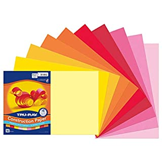 """Pacon Tru-Ray Construction Paper, 12"""" x 18"""", Warm Colors"""