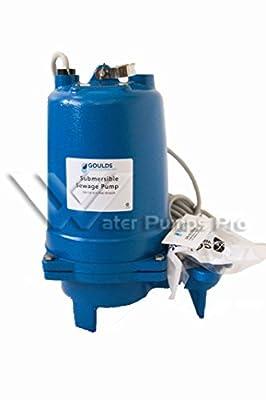 Goulds WS2012BHF Submersible Sewage Pump, 2 HP, 1 PH, 230 V, 18 Max Amps