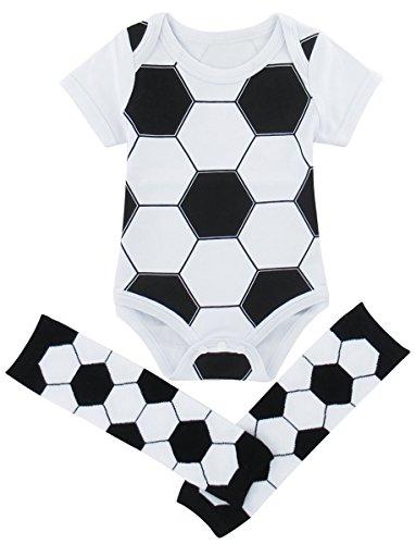COSLAND Baby Boys' Soccer Bodysuit with Leg Warmers (Soccer, 0-3 Months)